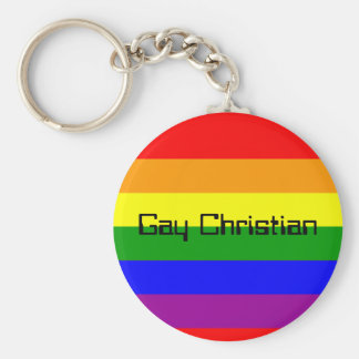 bandera del arco iris, cristiano gay llavero redondo tipo chapa