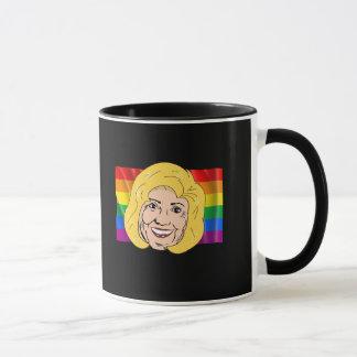 Bandera del arco iris de Hillary Clinton - LGBT - Taza