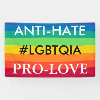 Bandera del arco iris de la protesta LGBT del Lona