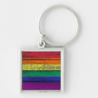Bandera del arco iris del orgullo gay con el efect llavero personalizado