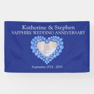 Bandera del azul del aniversario de boda del