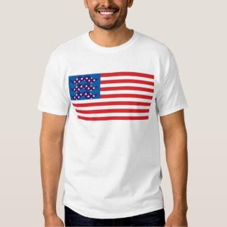 Bandera del bigote camisetas