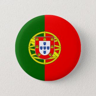 Bandera del botón de Portugal