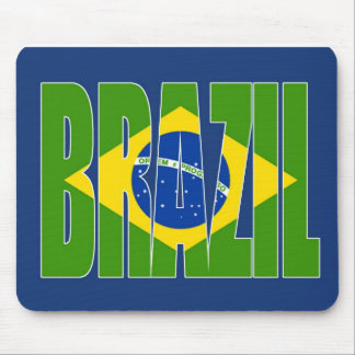 Bandera del Brasil Tapete De Ratones