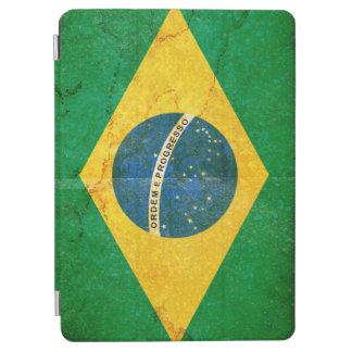 Bandera del Brasil del Grunge del vintage Cubierta De iPad Air