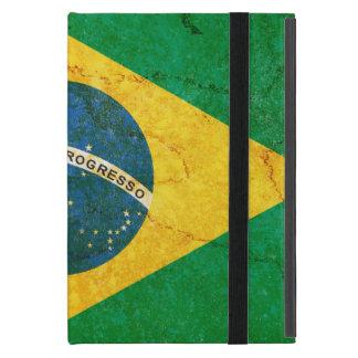 Bandera del Brasil del Grunge del vintage Funda Para iPad Mini