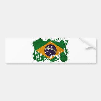 Bandera del Brasil Pegatina Para Coche