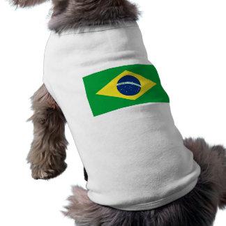 bandera del Brasil Camiseta Sin Mangas Para Perro