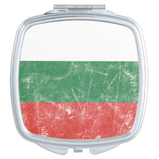 Bandera del búlgaro del vintage espejo compacto