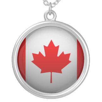 Bandera del Canadá Collar Plateado