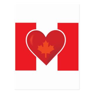 Bandera del canadiense del corazón postal