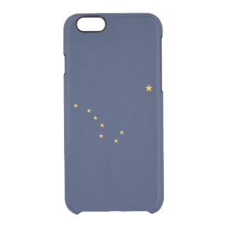 Bandera del caso claro del iPhone de Alaska Funda Transparente Para iPhone 6/6S