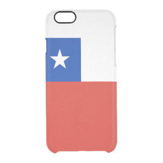 Bandera del caso claro del iPhone de Chile Funda Transparente Para iPhone 6/6S