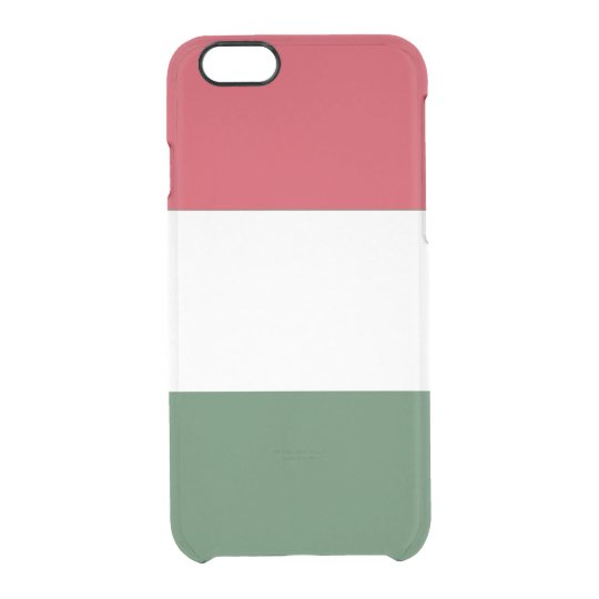 Bandera del caso claro del iPhone de Hungría Funda Transparente Para iPhone 6/6s