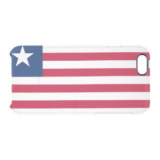 Bandera del caso claro del iPhone de Liberia Funda Transparente Para iPhone 6/6S