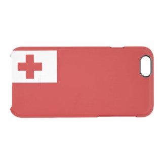 Bandera del caso claro del iPhone de Tonga Funda Transparente Para iPhone 6/6s