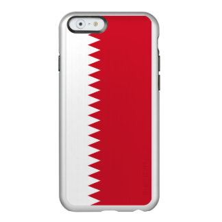 Bandera del caso de plata del iPhone de Bahrein Funda Para iPhone 6 Plus Incipio Feather Shine