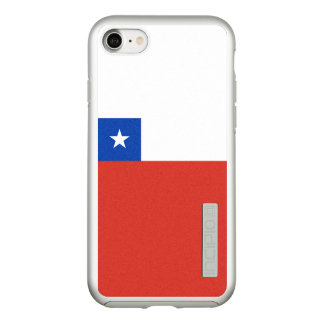 Bandera del caso de plata del iPhone de Chile Funda DualPro Shine De Incipio Para iPhone 7