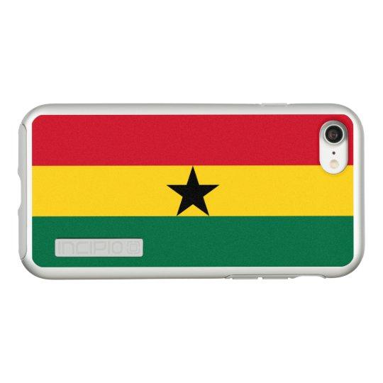 Bandera del caso de plata del iPhone de Ghana Funda DualPro Shine De Incipio Para iPhone 7
