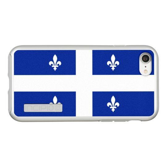 Bandera del caso de plata del iPhone de Quebec Funda DualPro Shine De Incipio Para iPhone 7