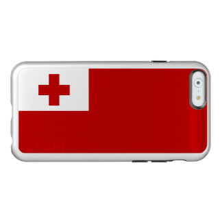 Bandera del caso de plata del iPhone de Tonga Funda Para iPhone 6 Plus Incipio Feather Shine