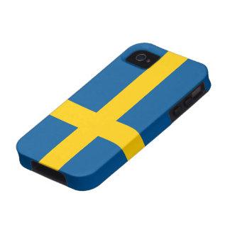 Bandera del caso del iPhone 4/4S de Suecia Vibe iPhone 4 Carcasas