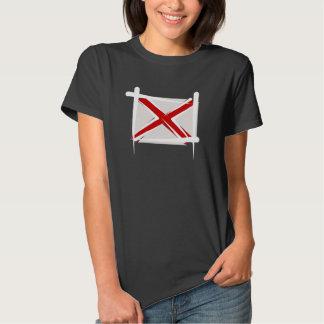 Bandera del cepillo de Alabama Camisetas