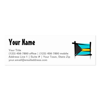 Bandera del cepillo de Bahamas Tarjetas De Visita Mini