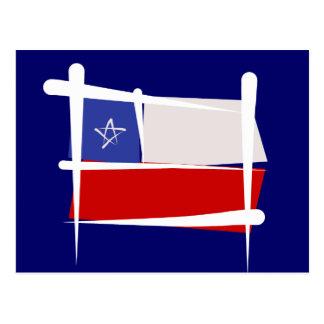 Bandera del cepillo de Chile Postal