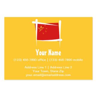 Bandera del cepillo de China Tarjetas De Visita Grandes
