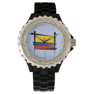 Bandera del cepillo de Colombia Reloj