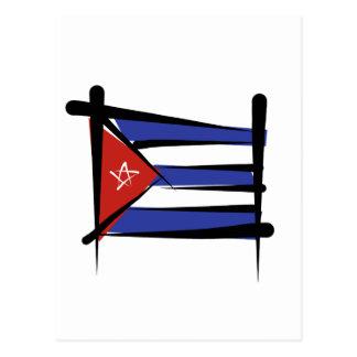 Bandera del cepillo de Cuba Postal