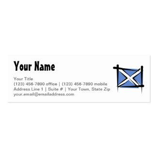 Bandera del cepillo de Escocia Tarjetas De Visita Mini