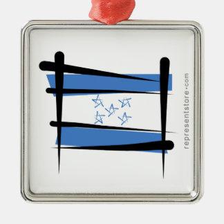Bandera del cepillo de Honduras Adorno Navideño Cuadrado De Metal