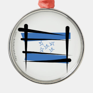 Bandera del cepillo de Honduras Adorno Navideño Redondo De Metal