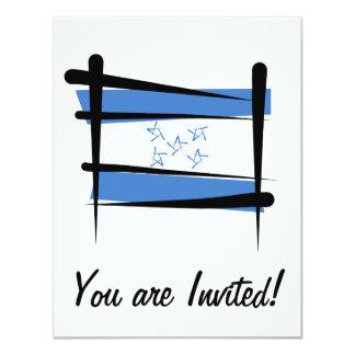 Bandera del cepillo de Honduras Invitación 10,8 X 13,9 Cm