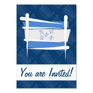 Bandera del cepillo de Honduras Invitación 12,7 X 17,8 Cm