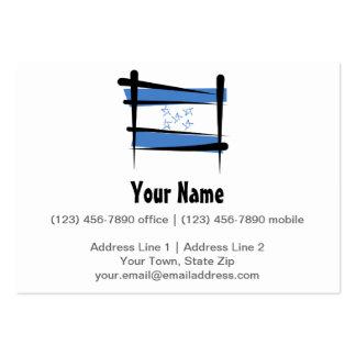 Bandera del cepillo de Honduras Tarjetas De Visita