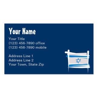 Bandera del cepillo de Israel Tarjetas De Visita