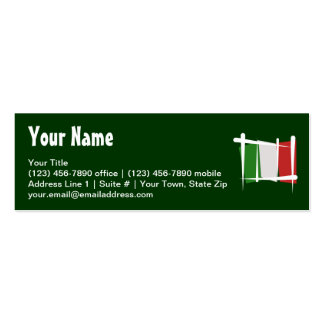Bandera del cepillo de Italia Tarjetas De Visita Mini