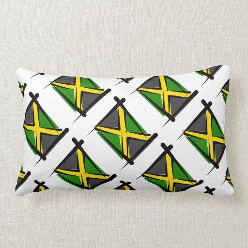 Bandera del cepillo de Jamaica Almohada