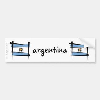 Bandera del cepillo de la Argentina Pegatina Para Coche