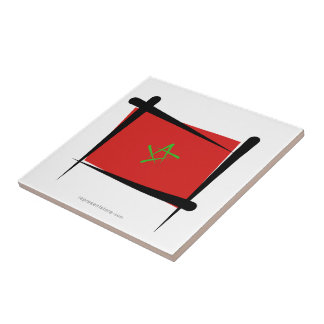 Bandera del cepillo de Marruecos Teja Cerámica