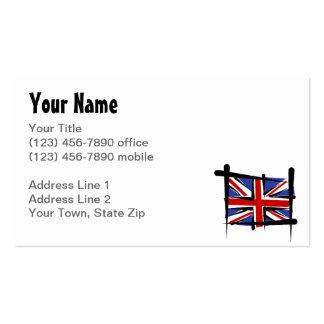 Bandera del cepillo de Reino Unido Tarjetas De Visita
