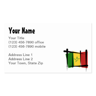 Bandera del cepillo de Senegal Tarjetas De Visita