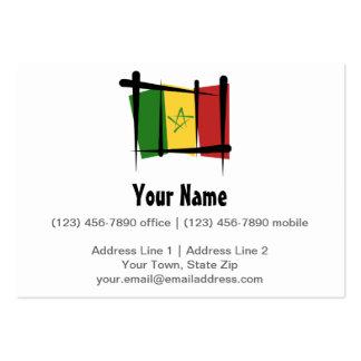 Bandera del cepillo de Senegal Tarjetas De Visita Grandes