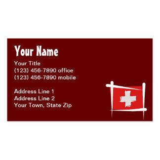 Bandera del cepillo de Suiza Tarjetas De Visita