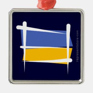 Bandera del cepillo de Ucrania Ornamentos De Reyes