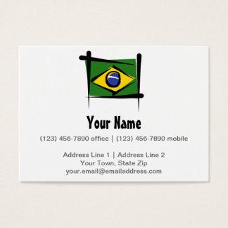 Bandera del cepillo del Brasil Tarjeta De Negocios