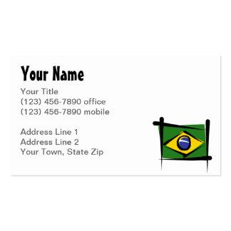Bandera del cepillo del Brasil Tarjetas De Visita